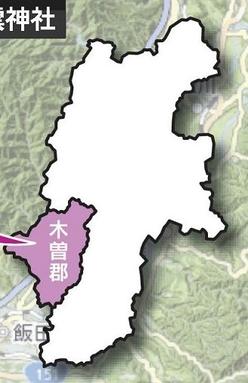 木曽郡の地図