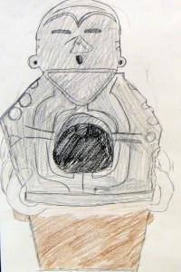 縄文土器の絵1