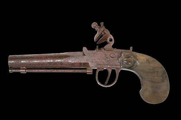 伝佐久間象山の短銃の写真